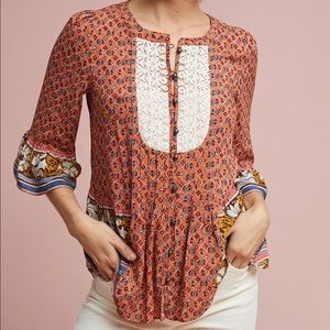 ANTHROPOLOGIE | maeve hiver blouse 0370